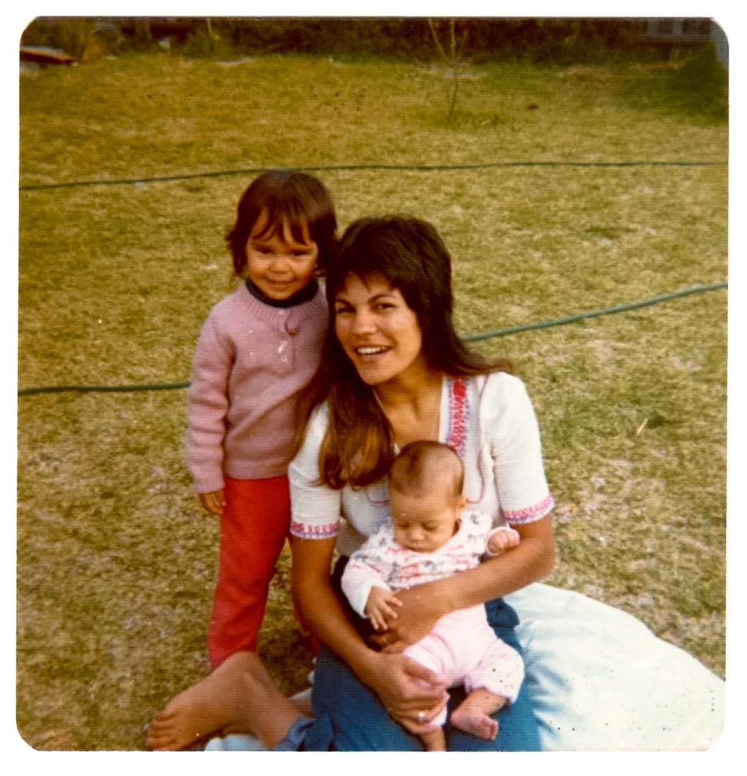 Mum, me and Jon
