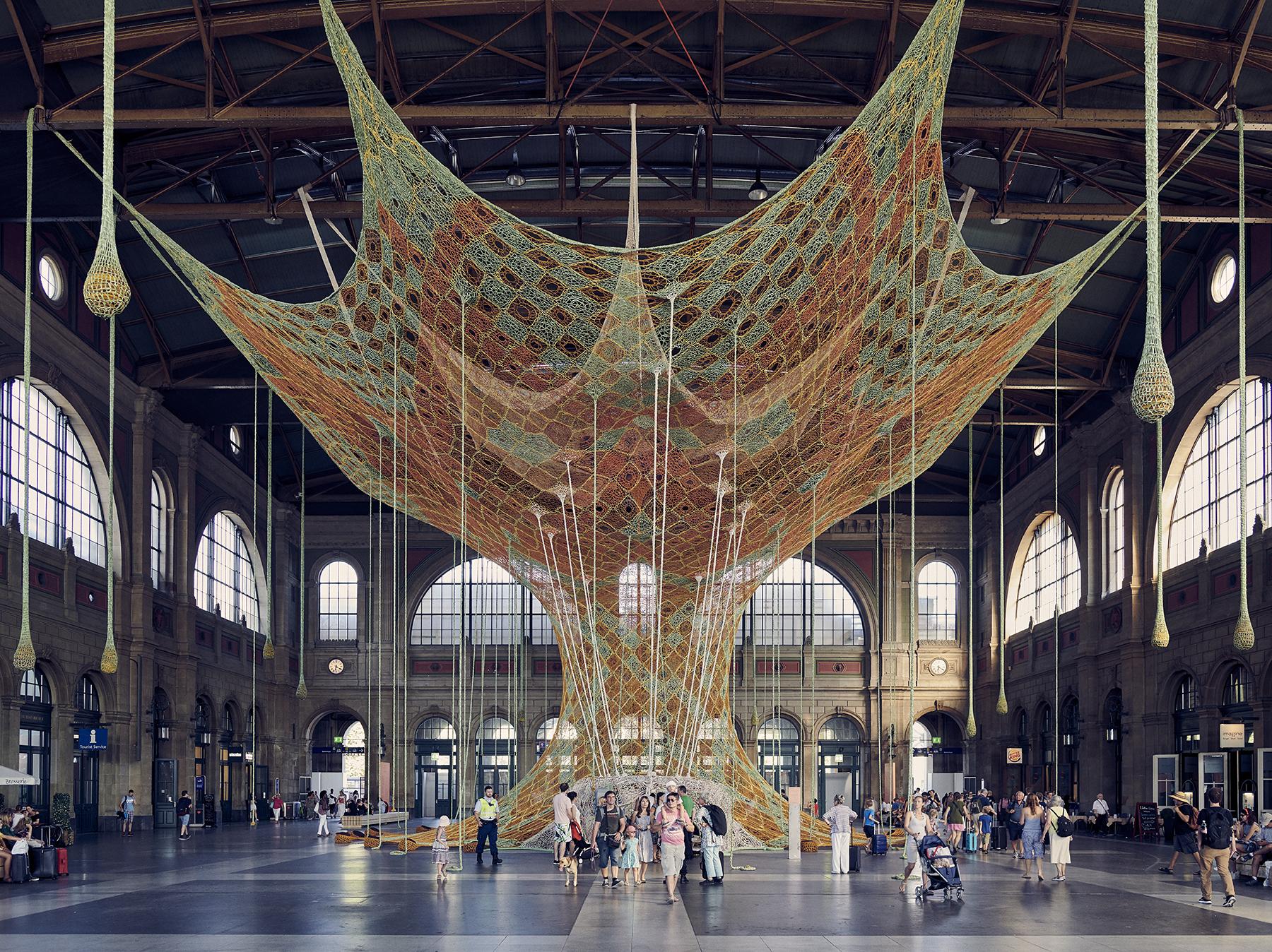 Ernesto Neto's GaiaMotherTree Installation at Zurich Mainrailway Station - Zürich Hauptbahnhof copy.jpg