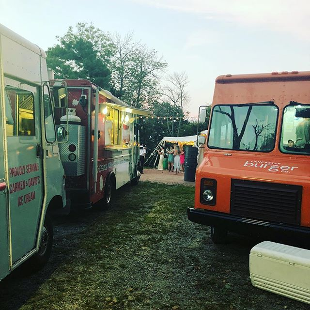 Had a great time serving the Smith-Thompson Wedding last night @lauxmont_farms along with @lancaster_burger & @pennysicecream ! #lauxmontfarms #foodtruckwedding #sunkengardens  #wedding #italianfood