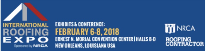 - February 6-8 -- Lou Benvenuti, Brian Domalik, Joe Rosmus and Nathan Young will be attending the International Roofing Expo at the Ernest N. Morial Convention Center in New Orleans, Louisiana.The International Roofing Expo [IRE] is the preeminent roofing construction and maintenance event where roofing professionals gather to see, compare and learn about the newest products, best practices and innovations essential to your success. If you would like more information about Neville, please reach out to Lou, Brian, Joe or Nathan.