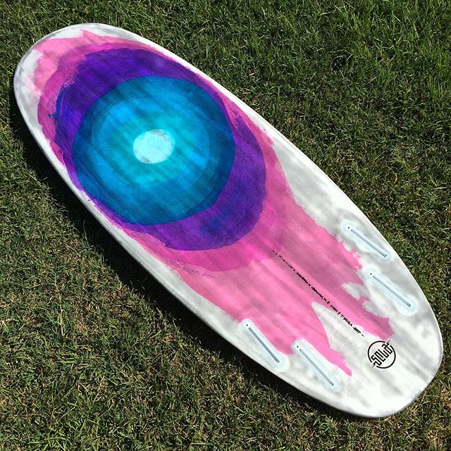 "5'8"" Sardine Can by @seculasurf in eps/epoxy. #seculasurf #resinart #quad #surfboard"
