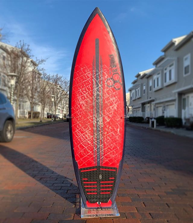 """5'4"""" x 19 1/8"""" x 2 3/8"""" 27L SpineTek NeckBeard 2 by @cisurfboards This is one of the most fun all around boards I've had underfoot in years and I've been almost completely unable to put it down since it arrived. I've been repeatedly breaking my different board every session rule. The SpineTek epoxy construction has such a positive flex and pop feeling and the wide tail is such an amazing gas pedal. This one's a total crowd pleaser and an easy choice for a go-to utility board in the quiver. You can watch this one being made start to finish in my @boardporn IGTV. Meantime, get yourself to a shop to get a grip on one of these. You'll thank me for it! 🤘🏼 Thanks again, @cisurfboards for this forever keeper!! 🙌🏼🙌🏼 #cisurfboards #channelislands #cispinetek #cineckbeard2 #surfboard #ronsquiver #kookselfie #belowaveragejoe"""