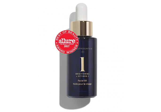 No. 1 Brightening Facial Oil   Your daily radiance boost.  This citrus-scented facial oil quickly absorbs and penetrates to awaken and replenish skin. Lightweight and silky smooth, it features a proprietary blend of seven natural oils.