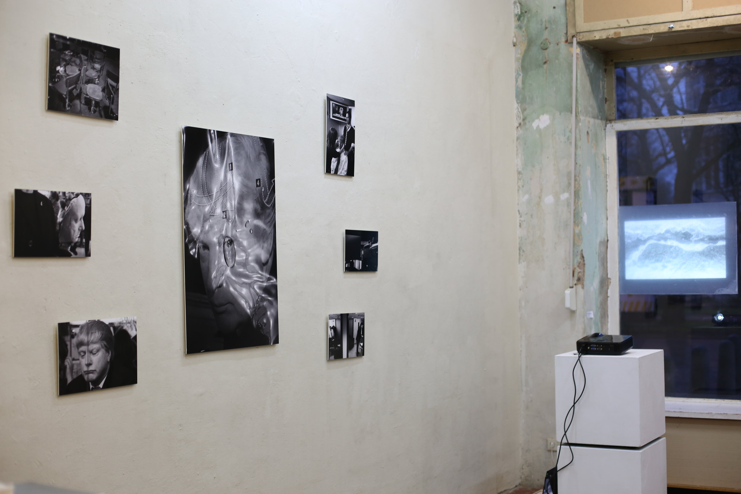 Right: Dissolve by  Katarina Murto   Left: Disturbed by Ayala Gazit dis- Group exhibition co-curated with  Katarina Murto  March 2017 at  tête  Berlin