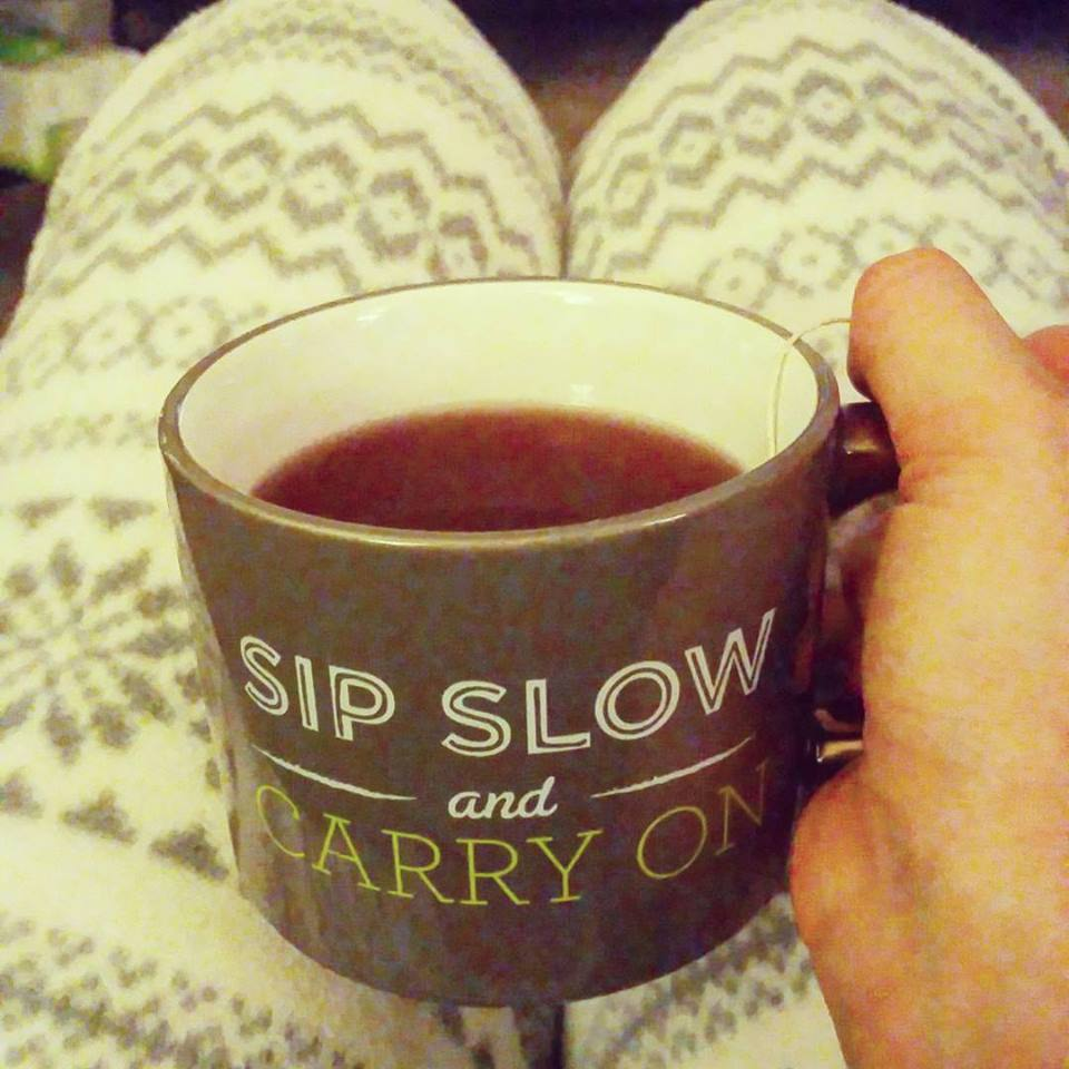 Having tea on my Saturday night rather than the wine I wanted