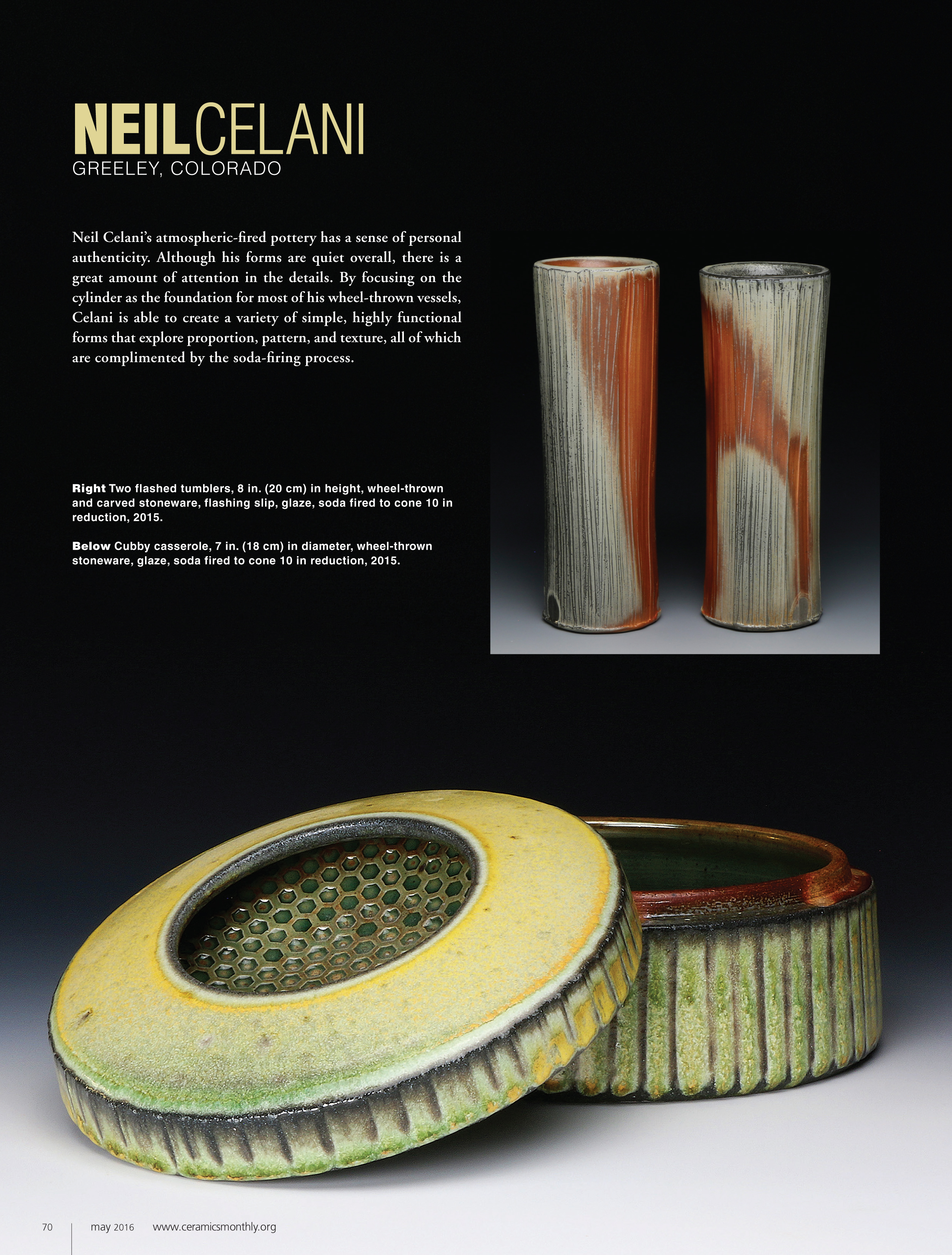 """""""Originally published in the May 2016 issue of Ceramics Monthly, page 70    . http://www.ceramicsmonthly.org . Copyright, The American Ceramic Society. Reprinted with permission.    """""""