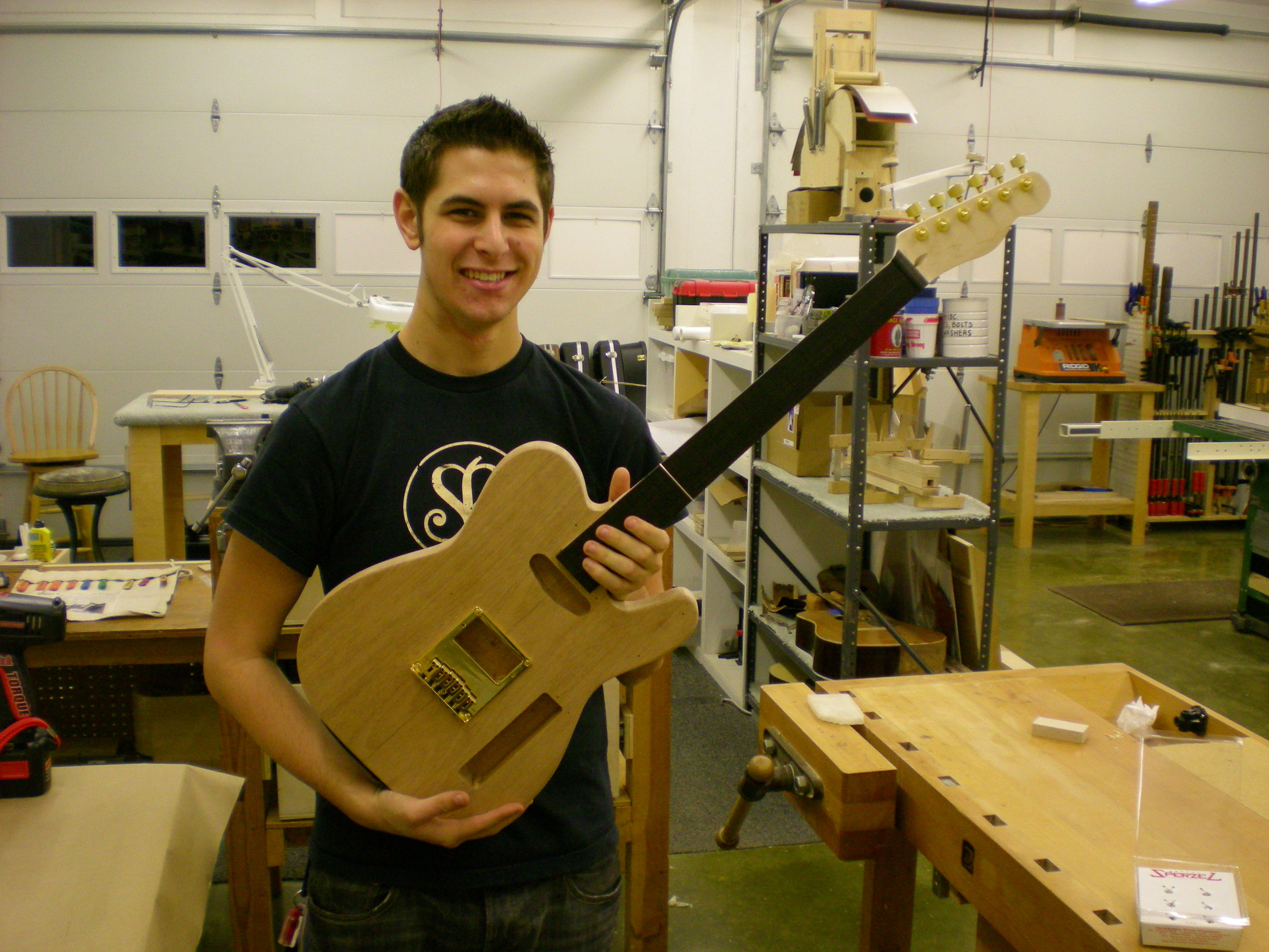 Clay with his Tele in progress