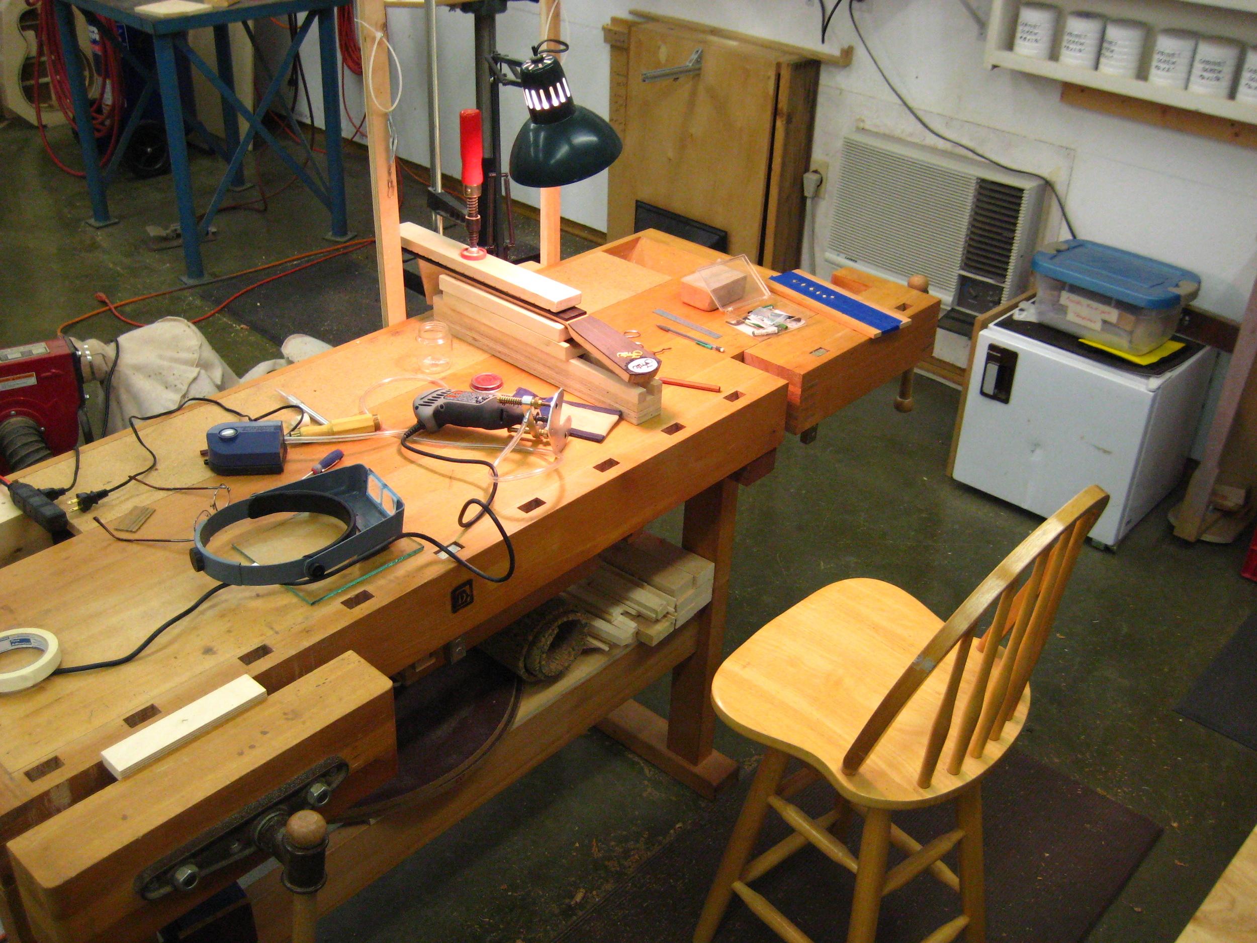 Headstock inlay setup
