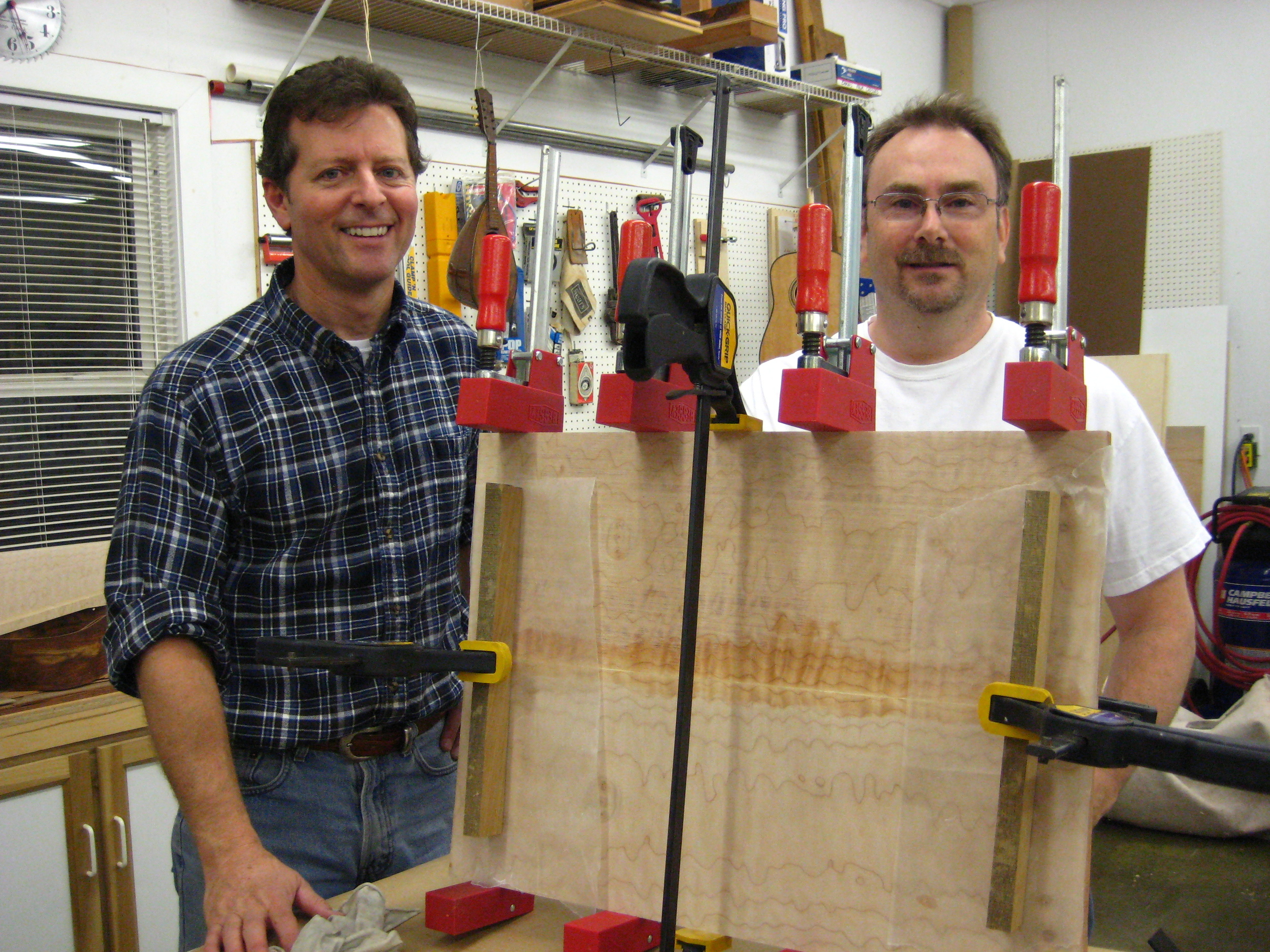 Terry and KC join a maple top plate