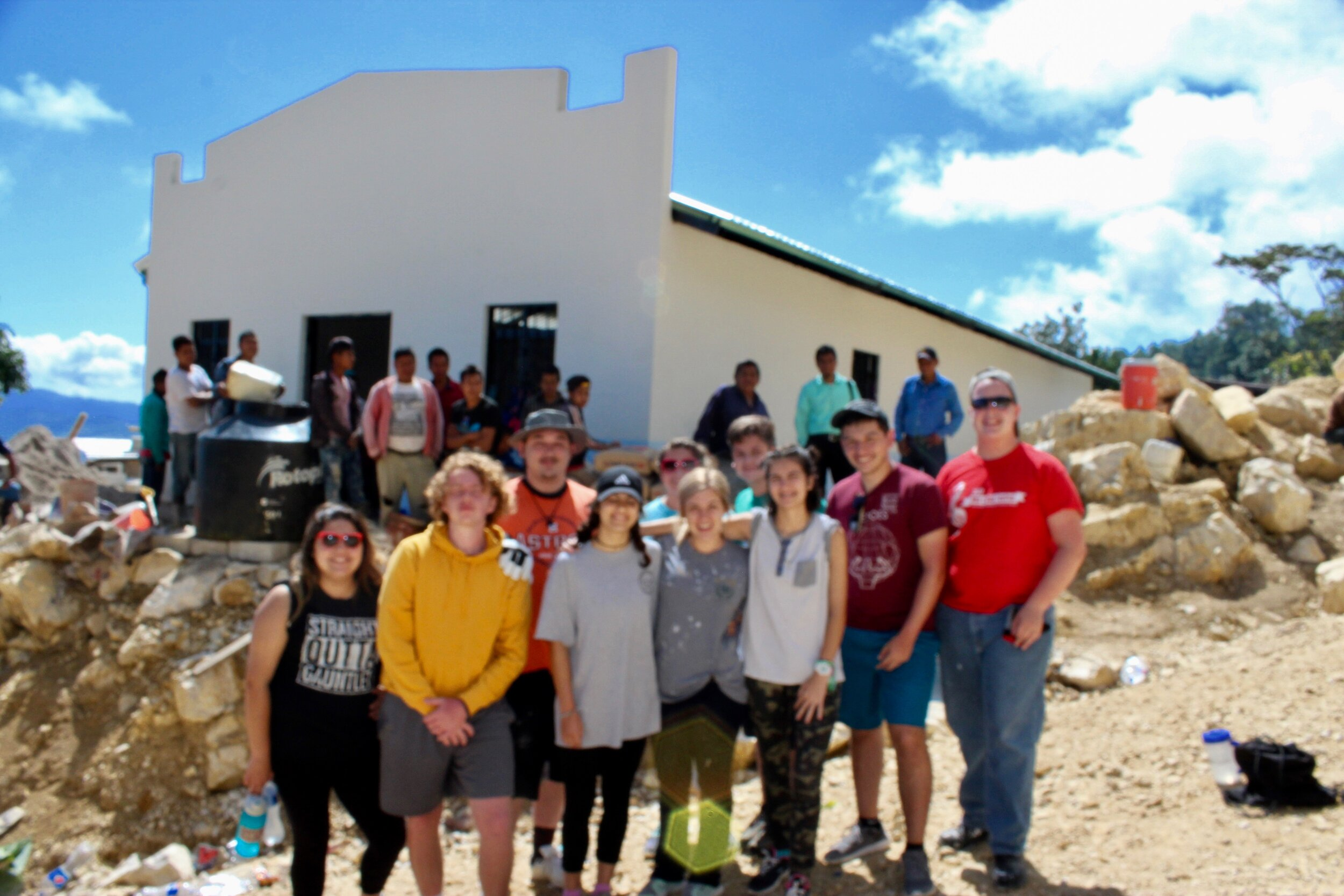 So grateful to Family Life of Sugarland, TX  for sending a second generation of team members to construct a church building in Tanubilja' C'ancuc.
