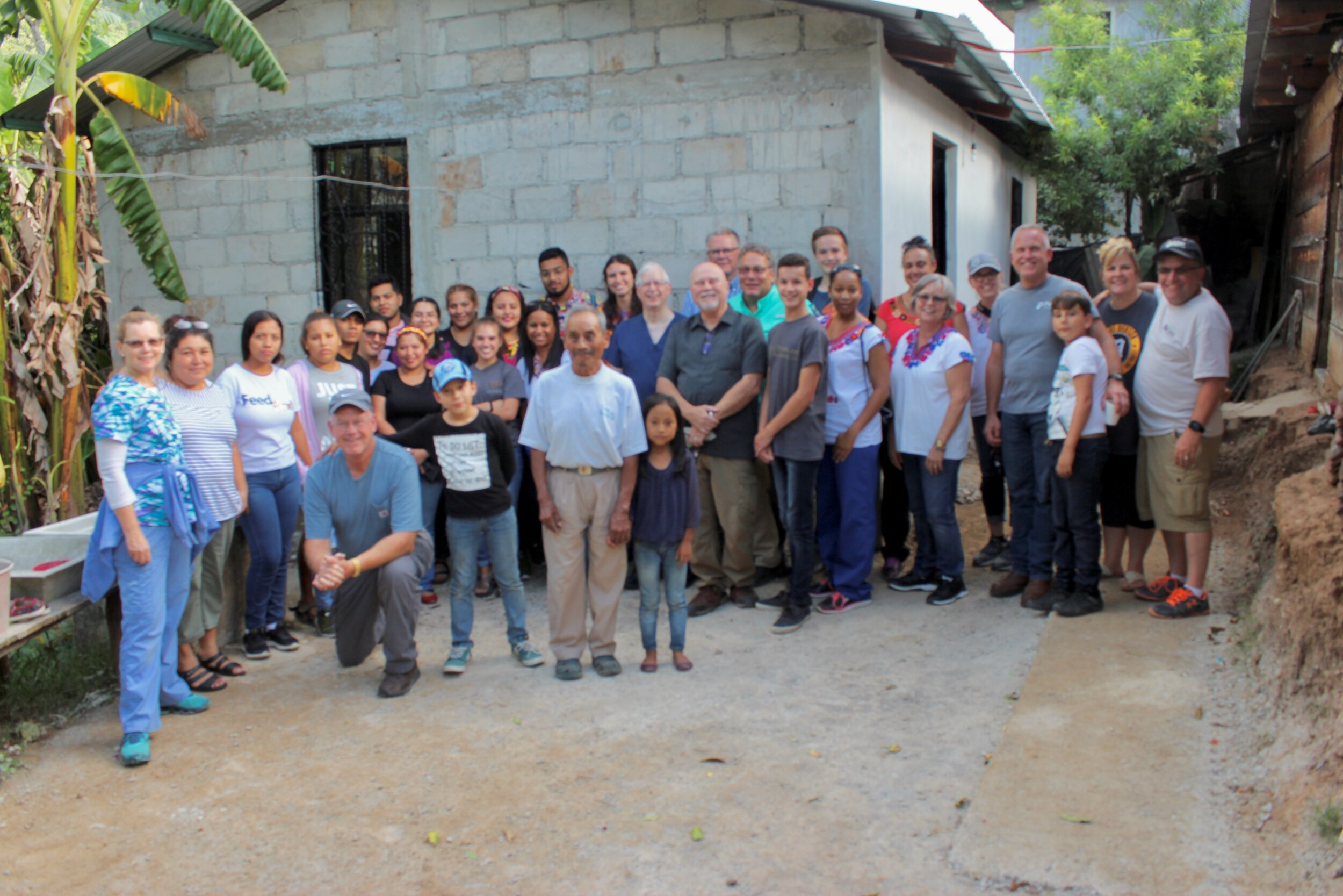 - Tomas, our first widower, can be seen in the white shirt in the center of this photo.