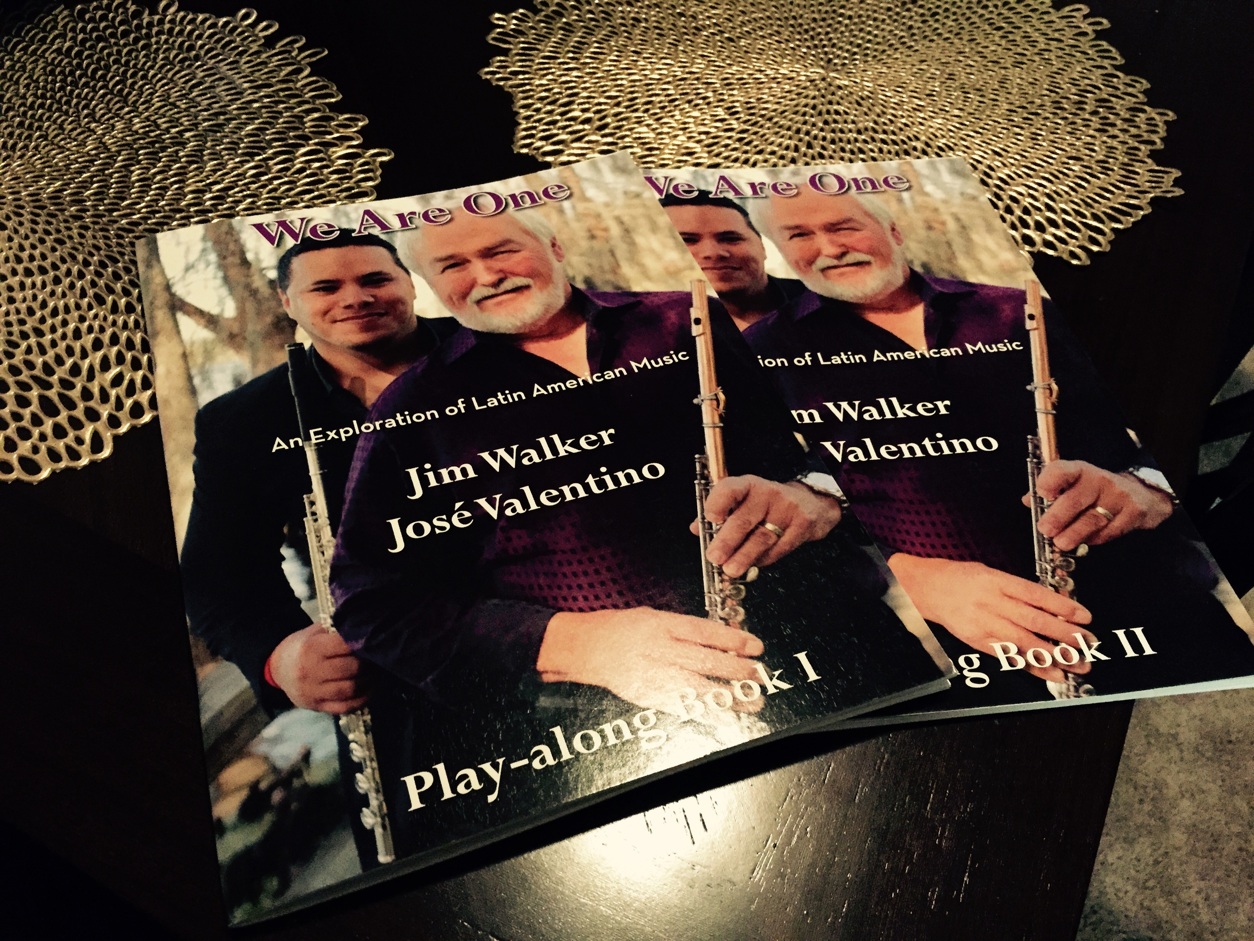 """Here are both play-along books containing full transcriptions of melodies and solos from the album, """"We Are One: An Exploration of Latin American Music."""" To purchase, send an email to jvflute@yahoo.com."""