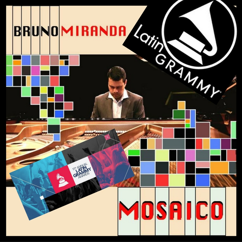 """José Valentino participated as the Mastering Engineer, Co-composer, and multi-instrumentalist (i.e., flute, saxophone, bass, vocals, and percussion) on his colleague's album - Bruno Miranda """"MOSAICO."""" The album is nominated for the 17th Annual Latin GRAMMY Award for Best Instrumental Album!"""
