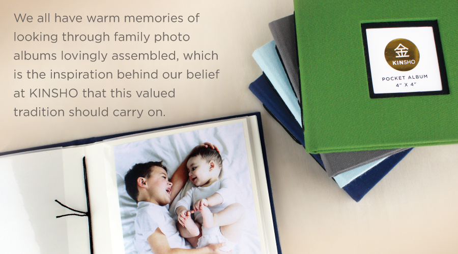 KINSHO photo albums carry the tradition of family photo albums