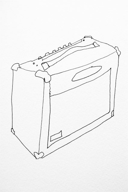 AMP, detail. Ink on paper.