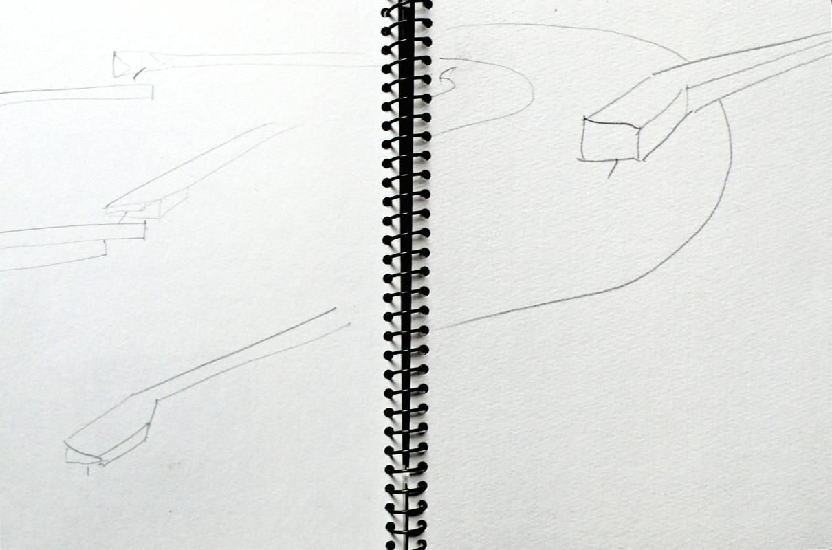 Movement, LP Gesture, sketchbook page, 2005