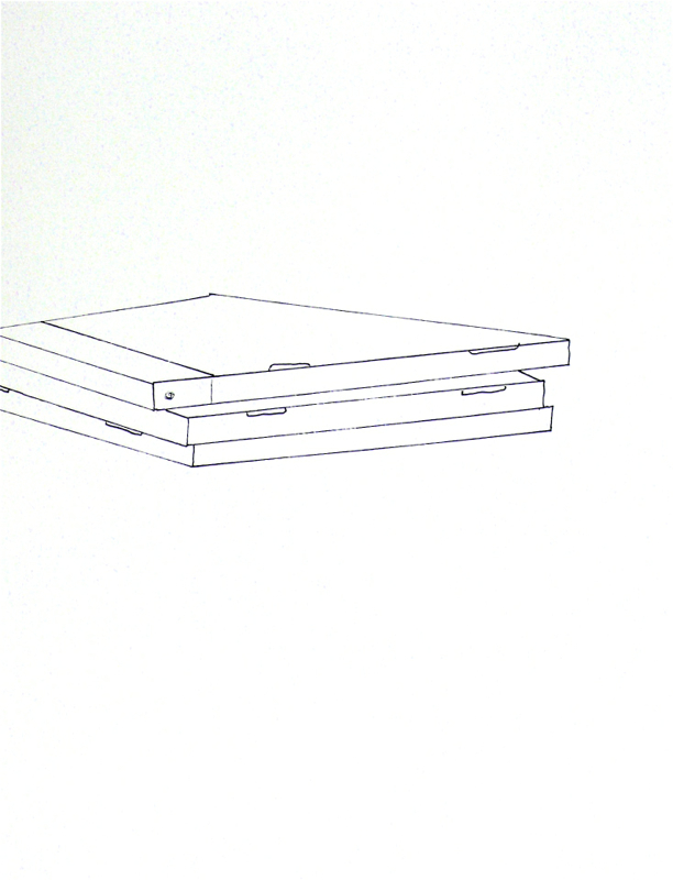 From the Blanks series, ink on paper 11 x 15 in. exhibited at Lawrimore ProjectsSeattle WA, 2011