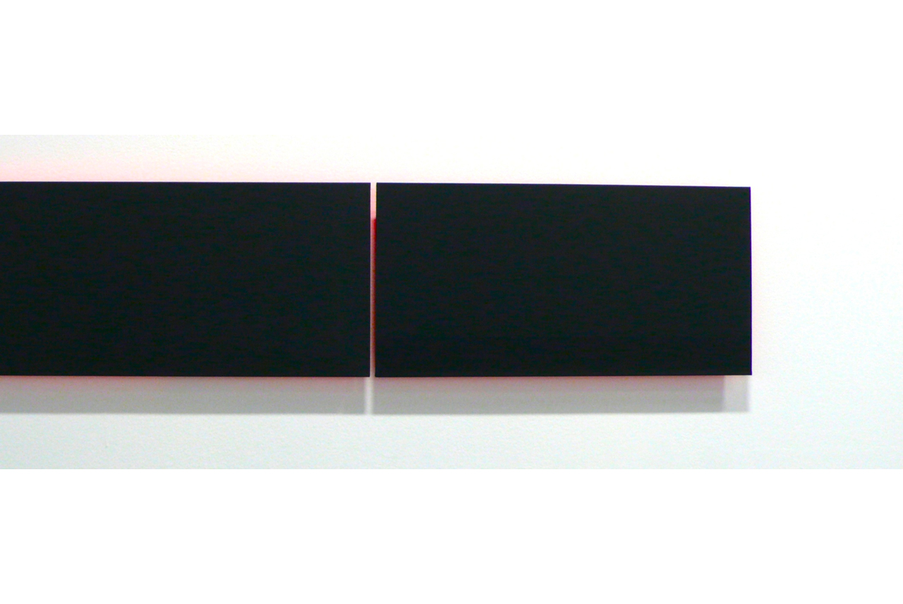 DETAIL, Sustained Black with Undertone - acrylic on canvas 12 x 24 each