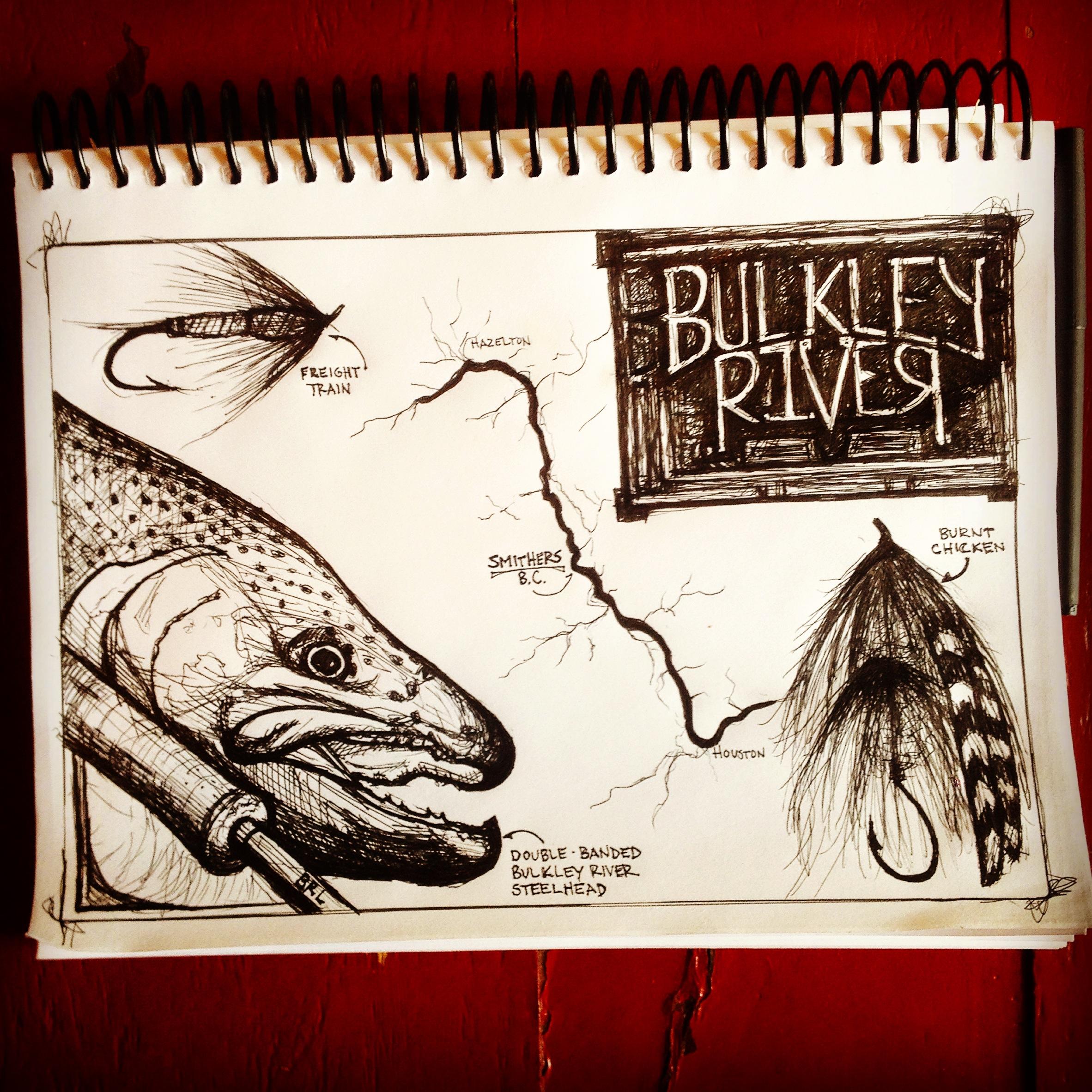 Bulkley River Poacher, 11x8.5, 2014