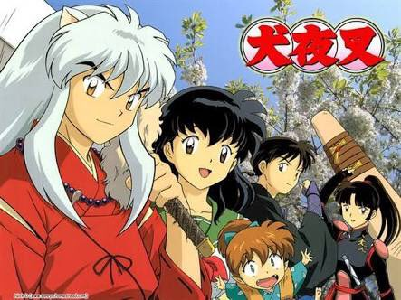 Splash image of the main characters from  Inuyasha