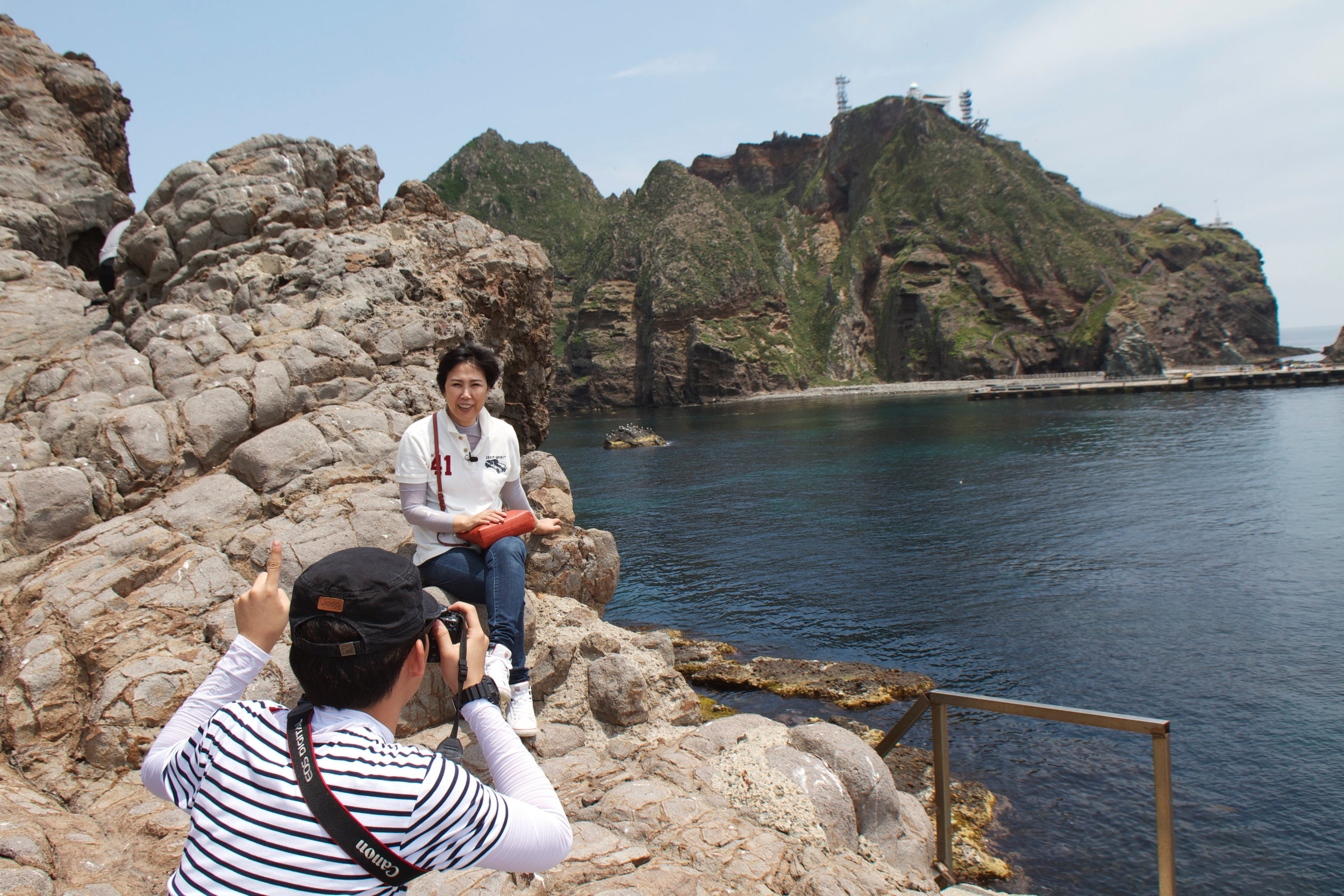 Mrs Choi visiting Dokdo w_son.jpg