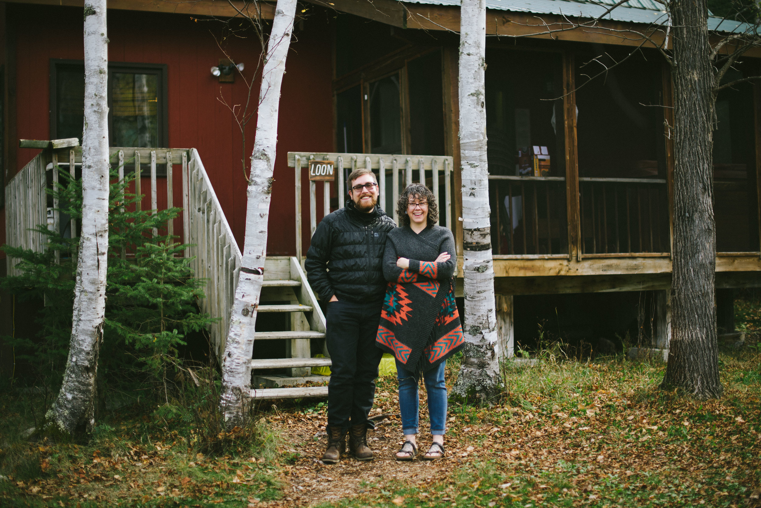 Justina and her husband Jason called the Loon cabin home during her residency.