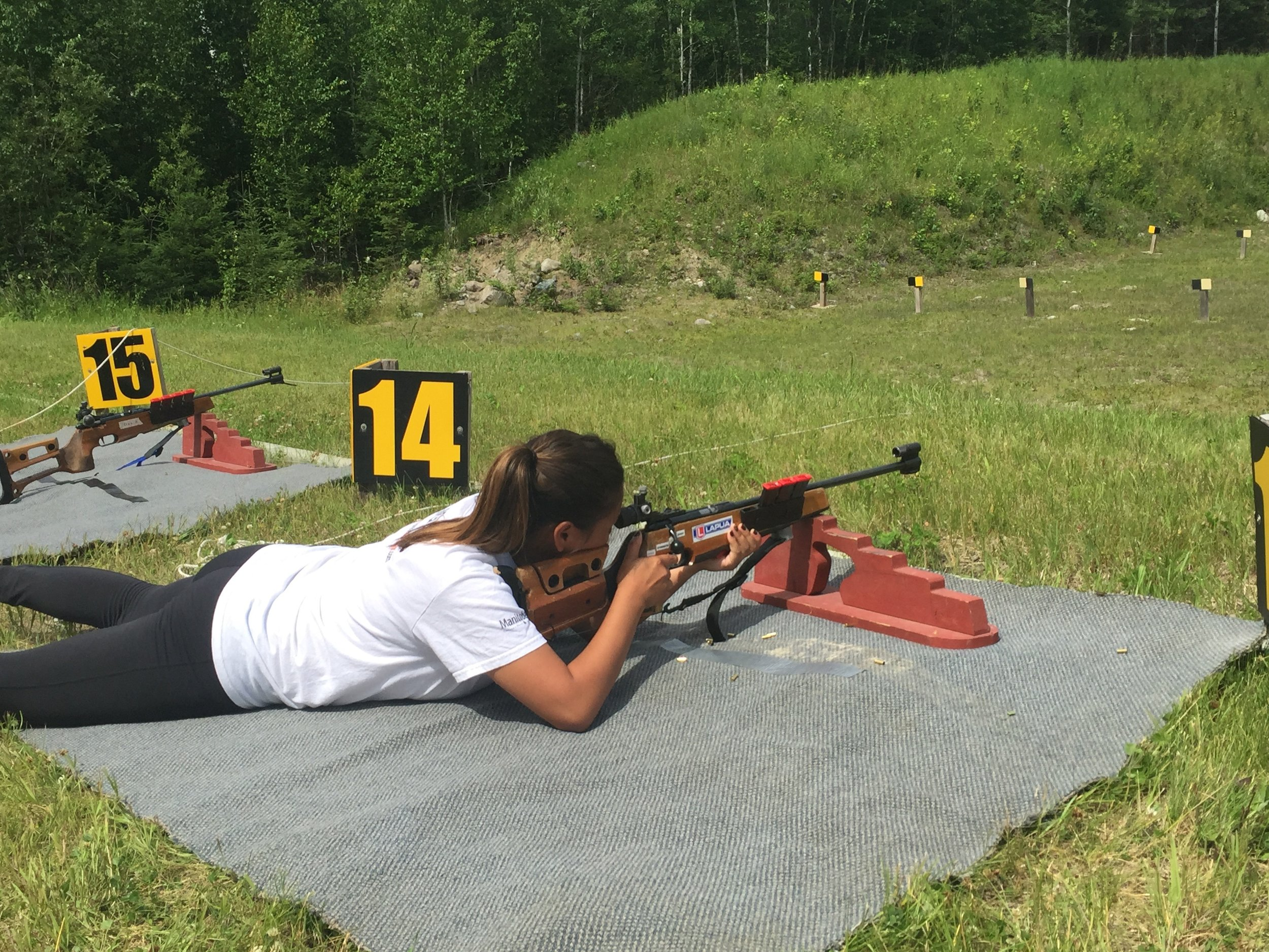 "Check out Travel Manitoba's ""Get out of the basement"" recap of their participation of our Biathlon Experience!    Photo credit to Get Out of the Basement"