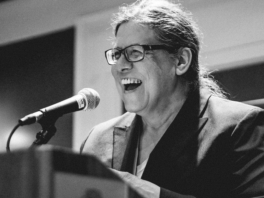 Donna Besel reading at Calgary Creative Nonfiction Collective Society Conference May 2014 Photo credit Leo Aragon