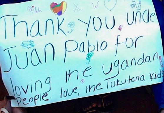 We love you, Juan Pablo Constanzo (aka, Uncle JP!)!