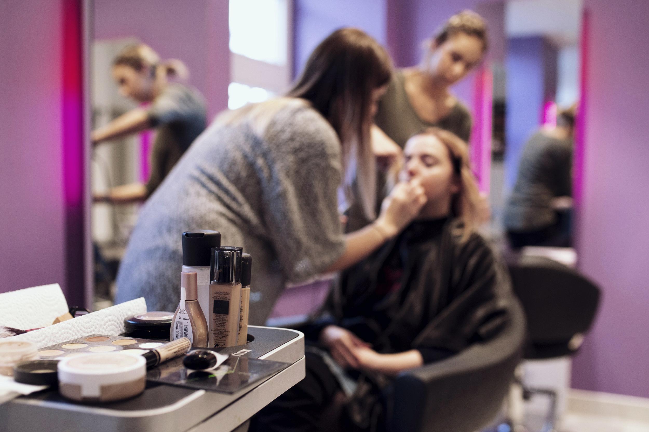Make Up Vorbereitungen