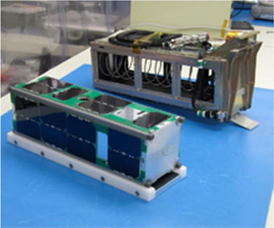 CubeSat Next To Its P-Pod Before Integration and Launch