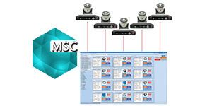 Multiple Shaker Control (MSC) in EDM Software  Multi-shaker control (MSC) is a unique feature offered enables users to view and monitor multiple shaker tests from one PC station. Up to 12 controllers can be accessed simultaneously.
