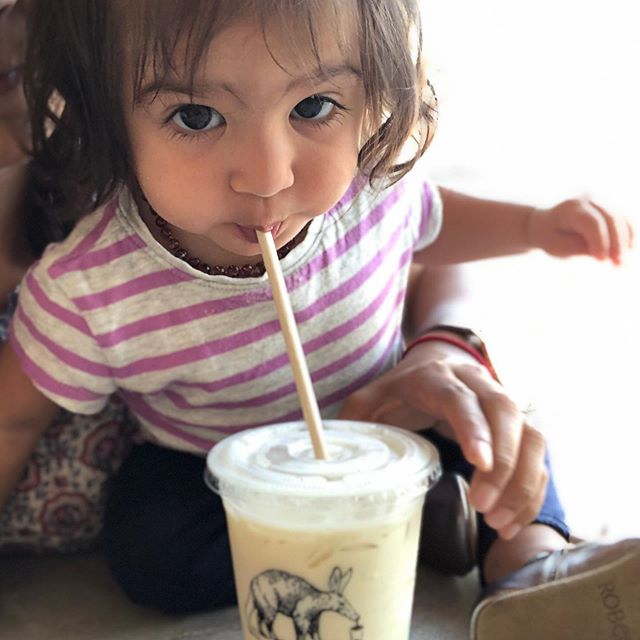 Boba? Yes, please!  We went for a Mommy daughter date after school/daycare! It was the cutest to get her her own drink - Banana Milk and watch her thoroughly enjoy 1/10th of it 😄 I guess we need kid-sized boba... @bobaguys are you listening? #boba #momdaughtertime