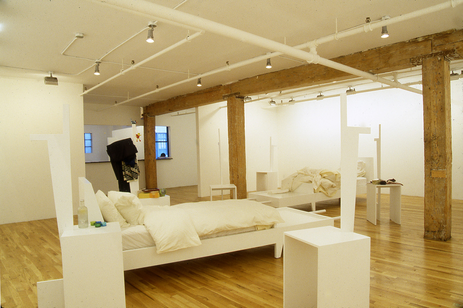 Lee Mingwei   The Sleeping Project , 2000 mixed media installation installation view at Lombard Freid Gallery, NY