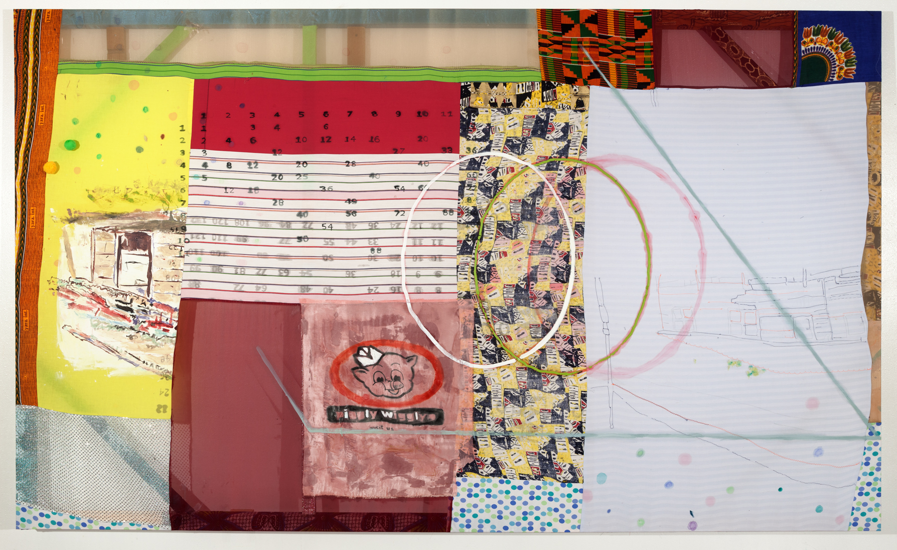 Tameka Jenean Norris   12 Times Table , 2014 acrylic and oil on fabric 60 x 100 inches 152.4 x 254 cm