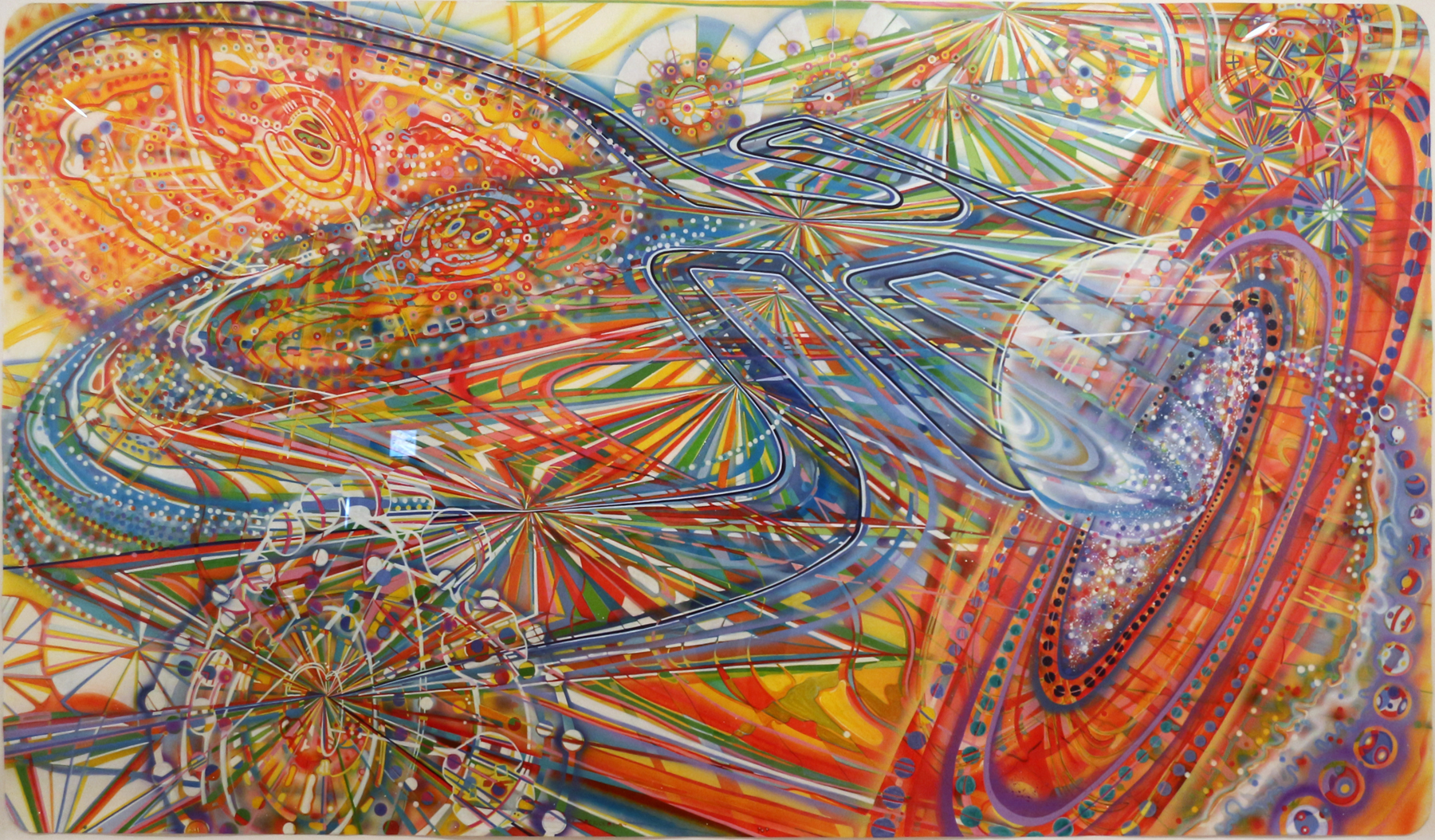 Ati Maier   Possibility of Perception,  2011 ink and airbrush on paper 52 x 94 inches