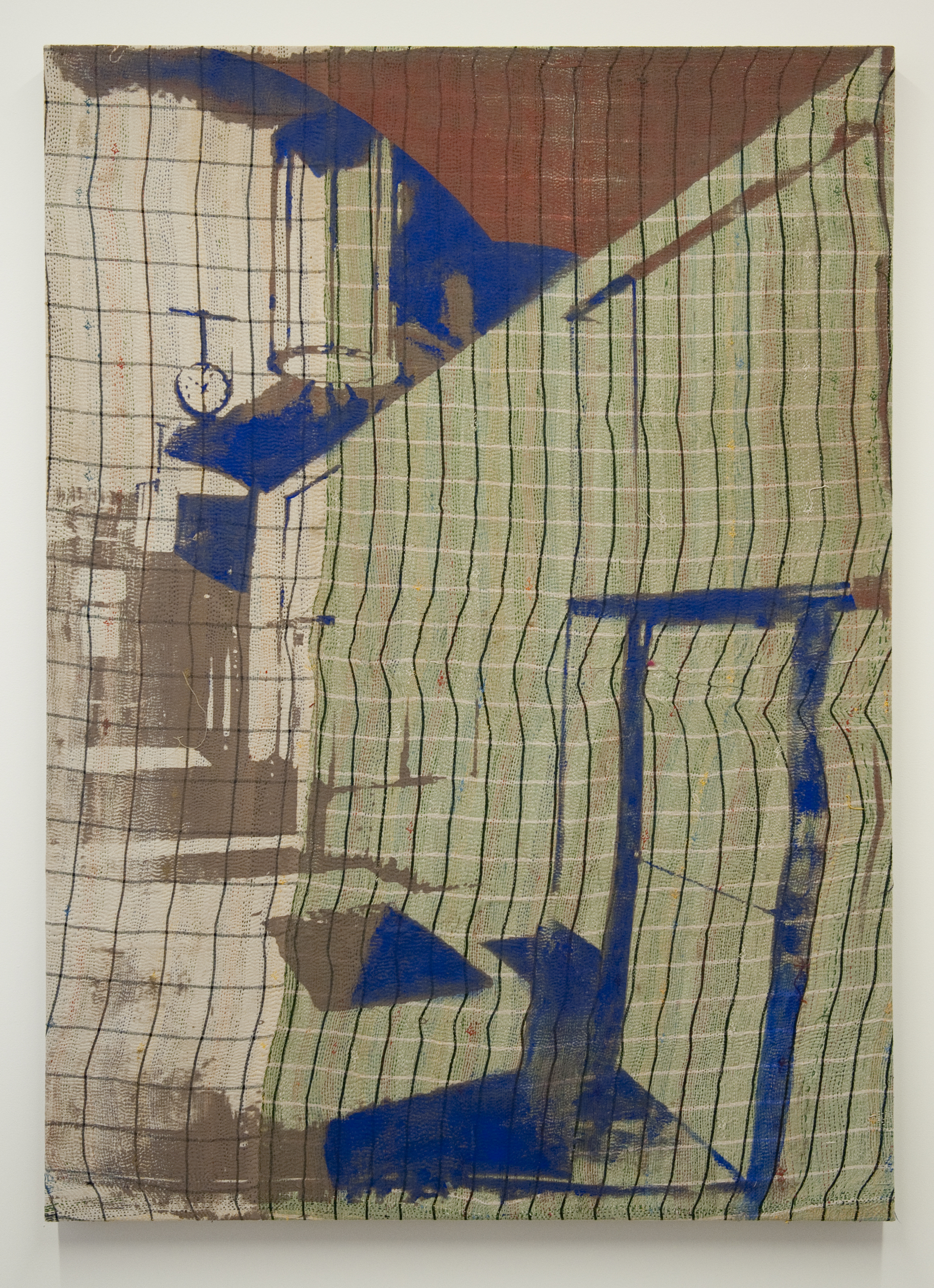 Shezad Dawood   PC001 , 2016 acrylic on vintage textile 55.12 x 38.98 inches 140 x 99 cm