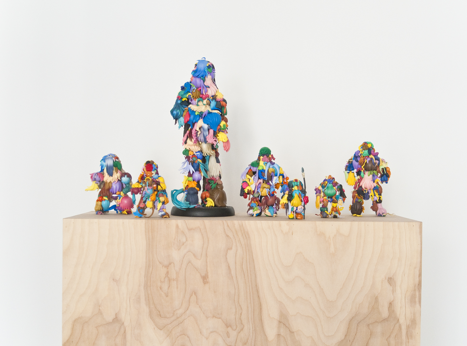 Teppei Kaneuji   Teenage Fan Club #66-#72 , 2015 plastic figures, hot glue dimensions variable