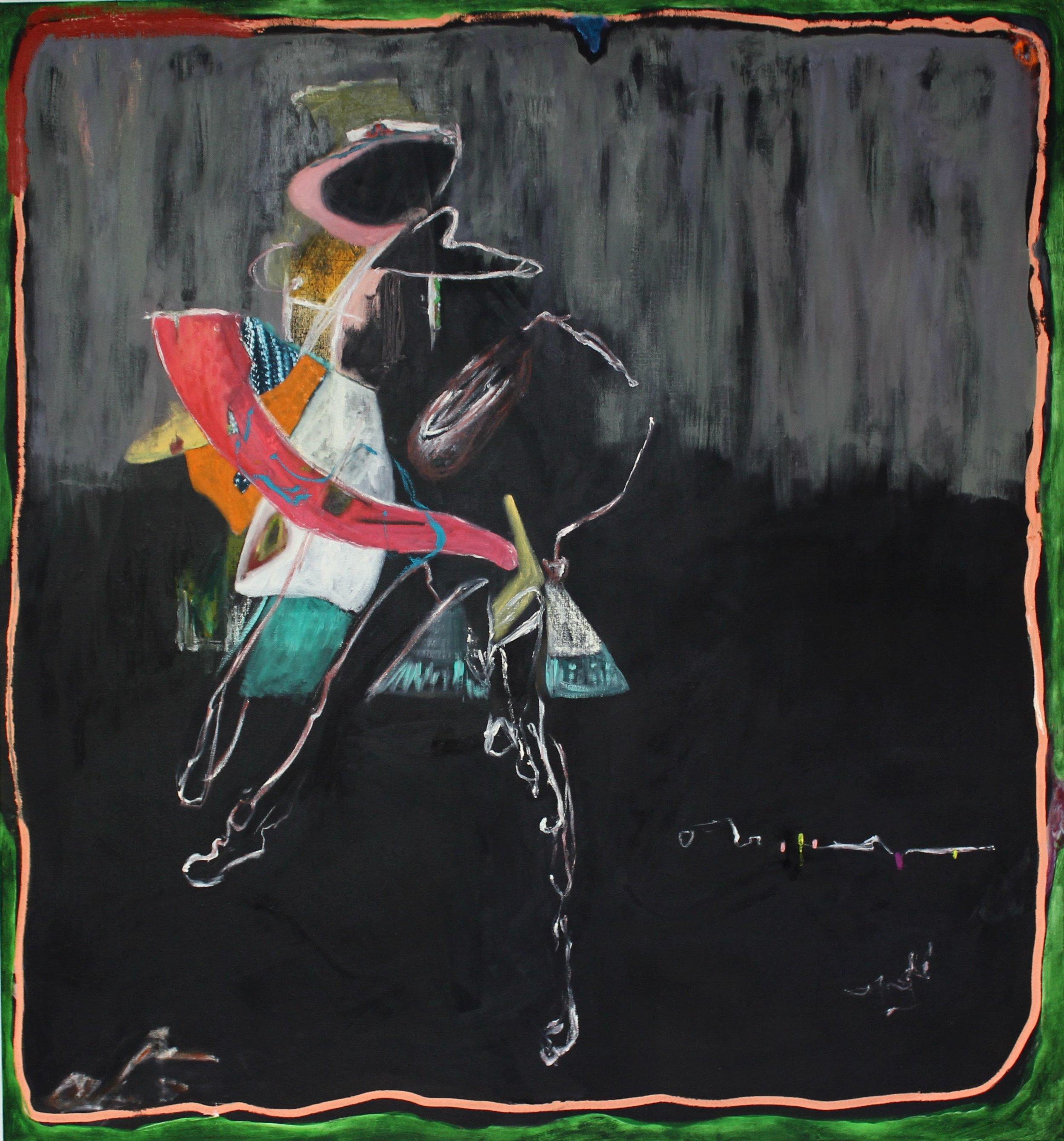 Sarah Dwyer   Belacqua , 2016 oil on linen 55.91 x 51.97 inches 142 x 132 cm