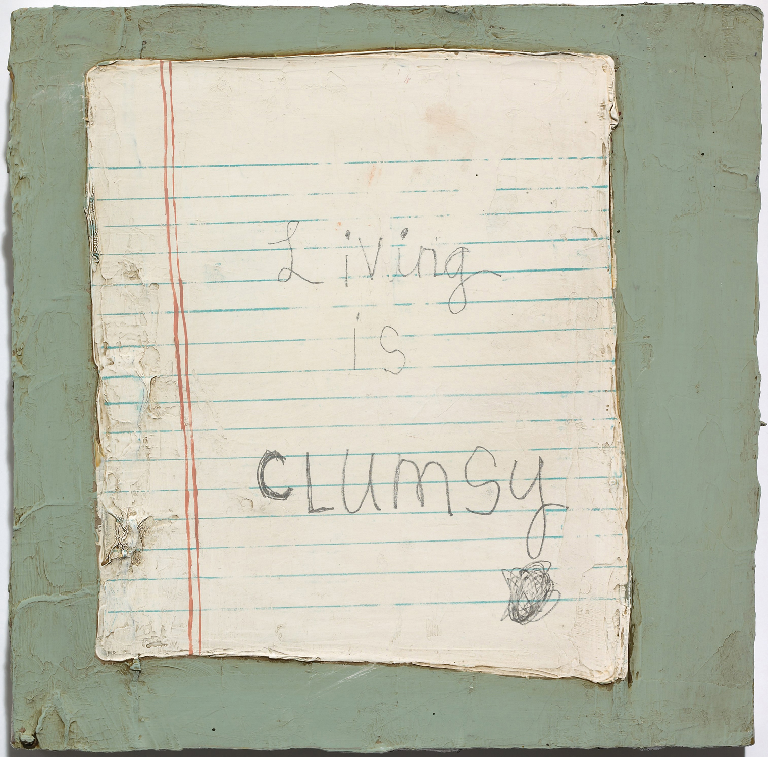 Squeak Carnwath   Clumsy , 2009 oil and alkyd on canvas 10 x 10 inches 25.4 x 25.4 cm