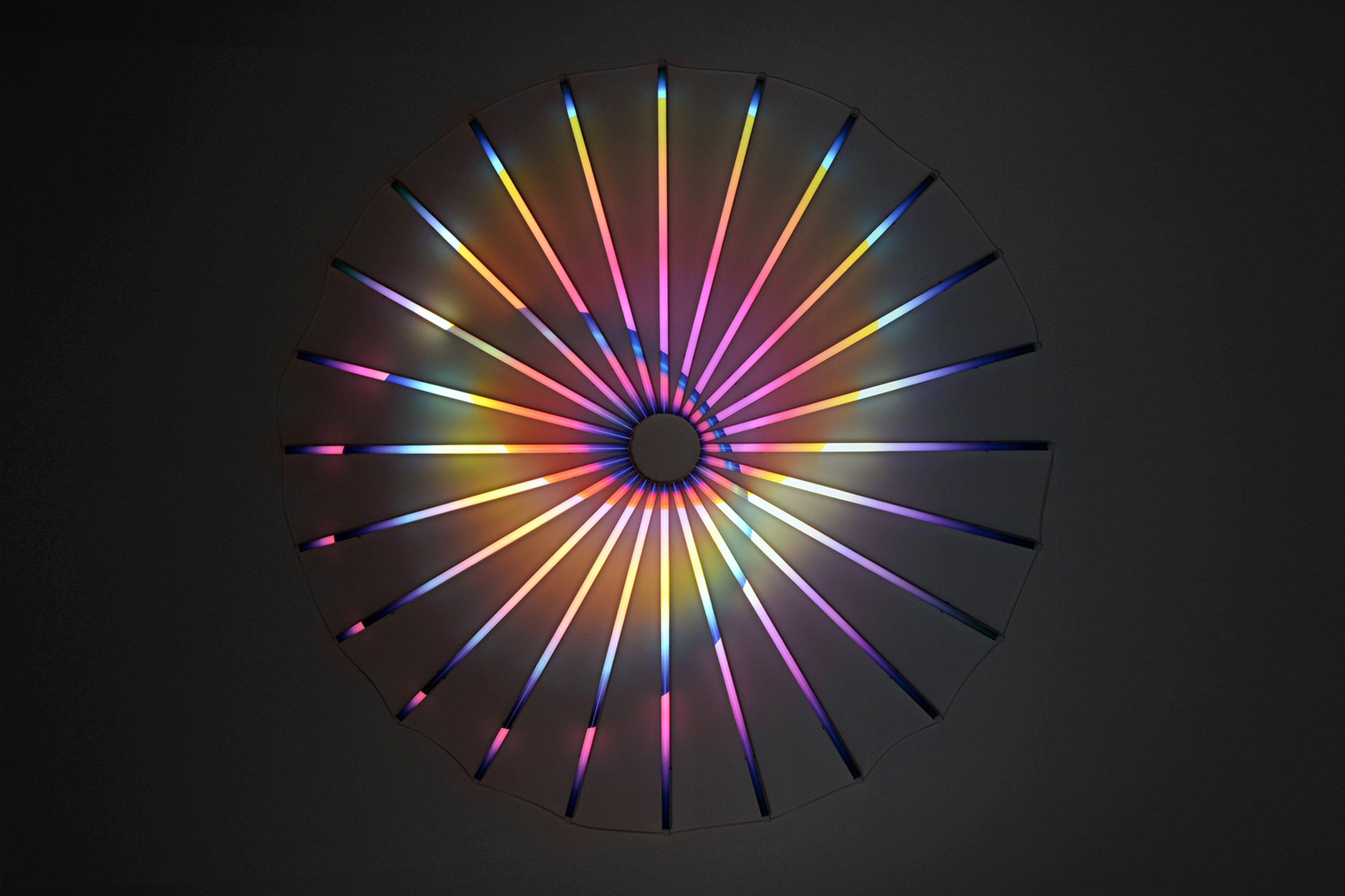 James Clar   Binary Star , 2016 LEDs, filters, wires 74.8 inches 190 cm
