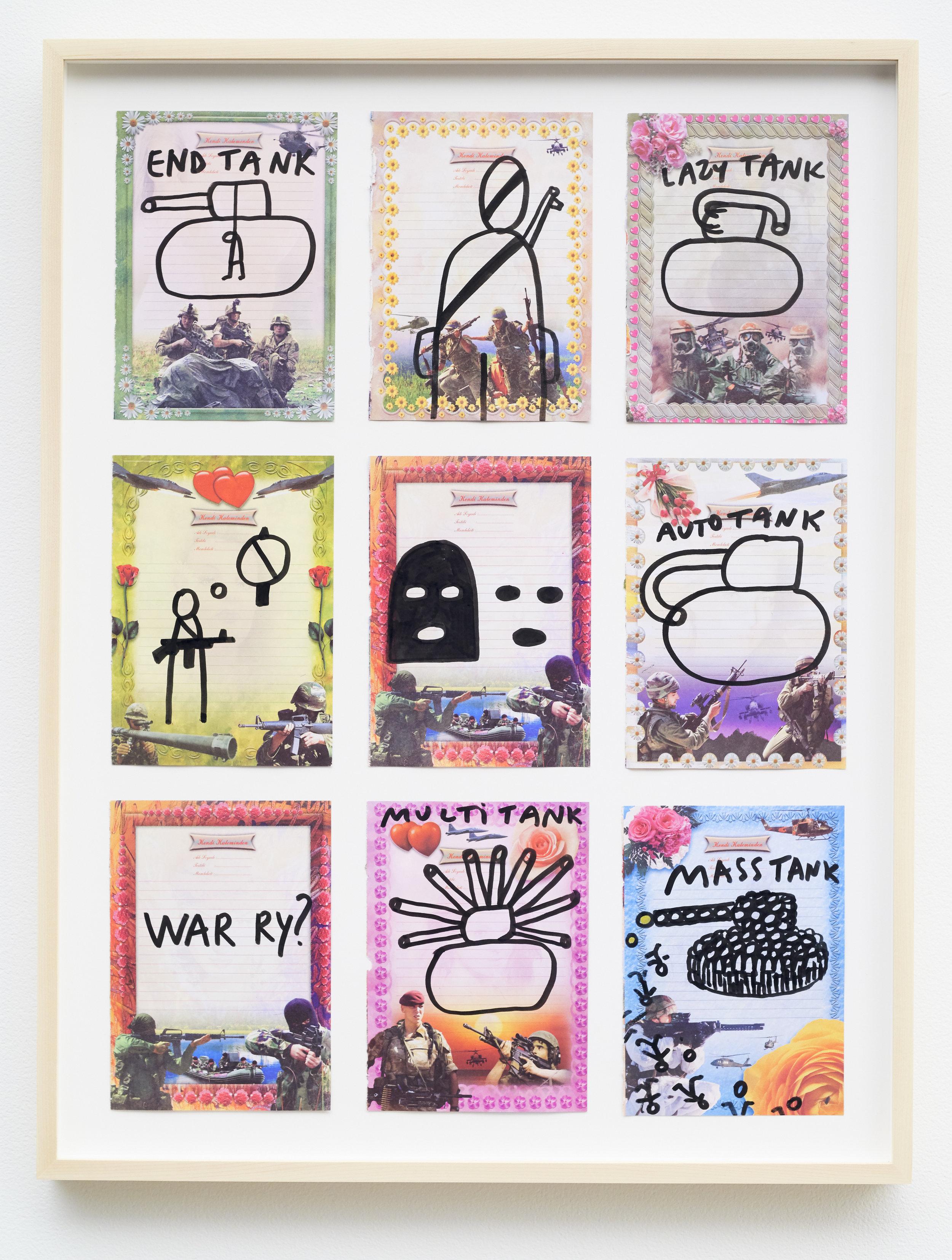 Dan Perjovschi   War ry , 2017 ink on paper 27 x 20.5 inches 68.6 x 52.1 cm