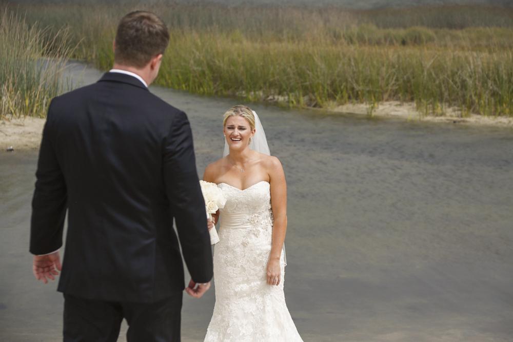 Beautiful Carmel Wedding first look/reveal by Carmel Photographers TGO Photography.