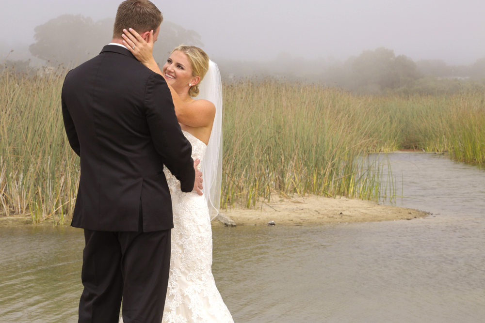 Beautiful Carmel Wedding first look/reveal by Carmel Photographers TGO Photography.