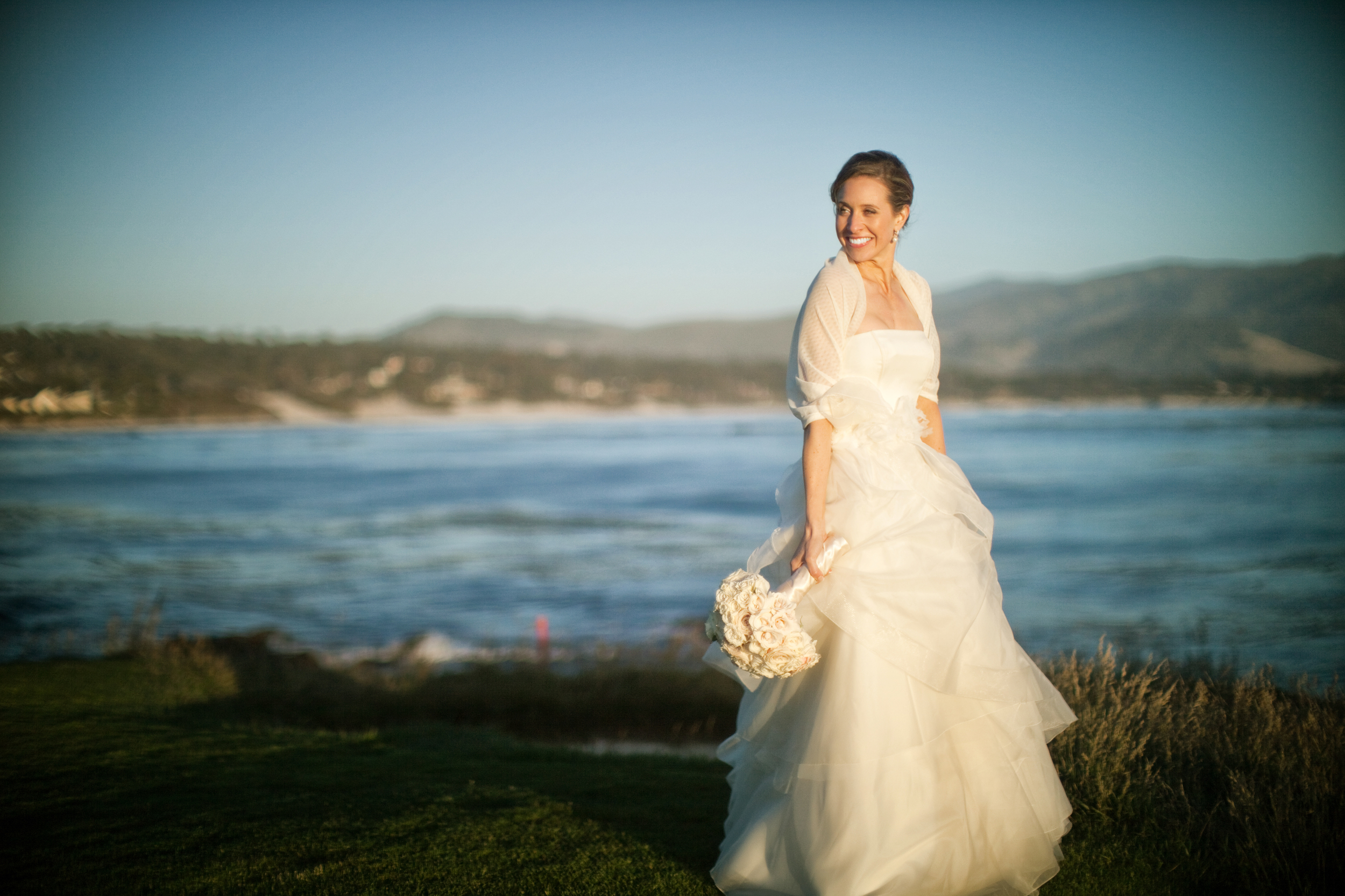 This was taken by the 7th hole in Pebble Beach.  The reception was at the Beach and Tennis Club on a perfect day for a wedding.