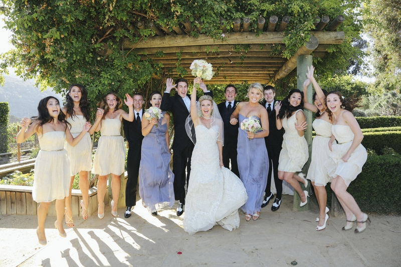 This is one of my favorite bridal party groups shots- weddings should have moments of fun - like this!