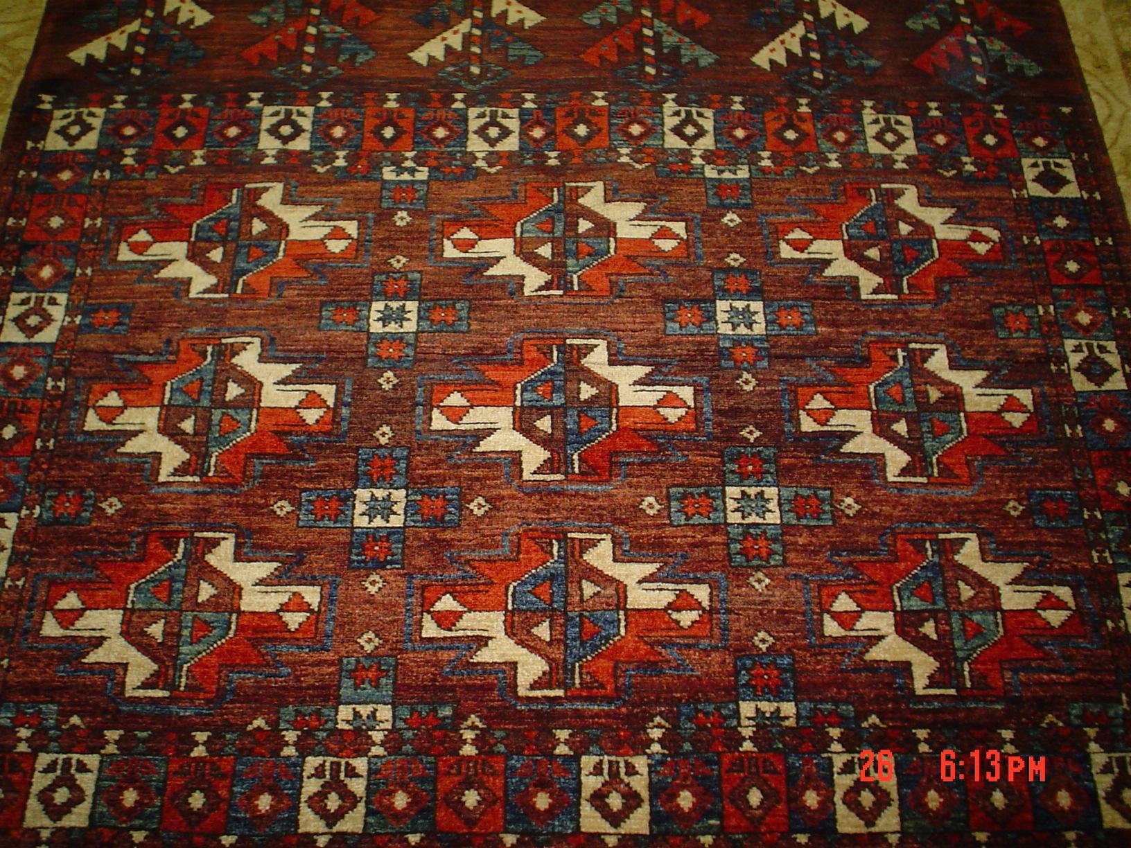 #3) 3.6 x 4 Yamut Turkoman rug