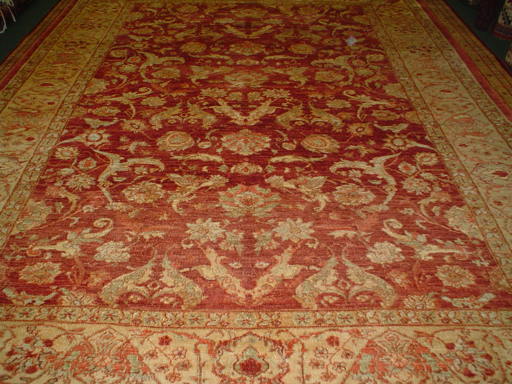 "#6) 8' x 10' 3"" Agra design Oriental carpet, woven in Afghanistan. Great Afghan wool, well made (durable) and gorgeous!"