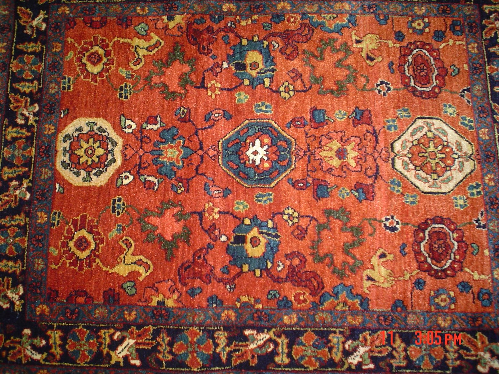 2.8 x 3.6 Persian Bijar. Wonderful piece. New rug woven by Kurdish weavers in Iran. Sold.
