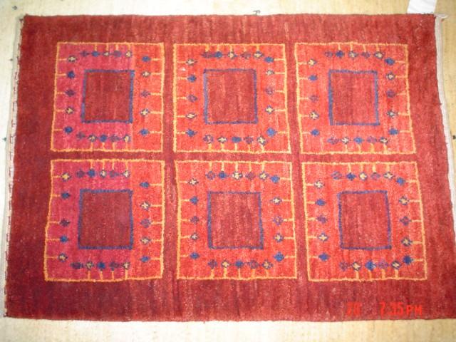 "2 x 3'4"" Persian Gabbeh, unique and beautiful."